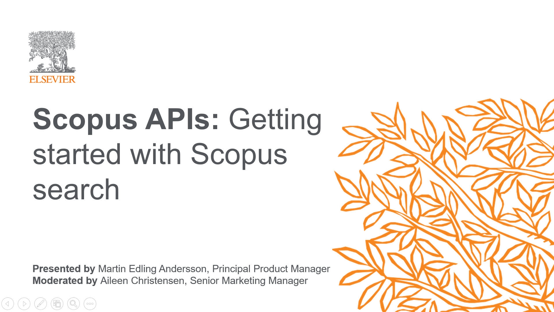 Register: Getting started with Scopus search